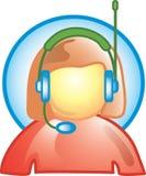 Icono del servicio de atención al cliente Imagenes de archivo