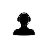 Icono del servicio de atención al cliente Imagen de archivo