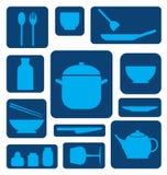Icono del sistema de la cocina Fotos de archivo libres de regalías