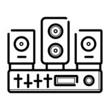Icono del sistema de la música libre illustration