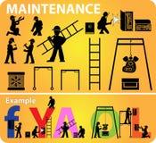 Icono del sitio web del mantenimiento  Fotografía de archivo