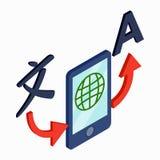 Icono del smartphone del traductor, estilo isométrico 3d libre illustration