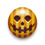 Icono del smiley de la calabaza de Halloween. ilustración del vector