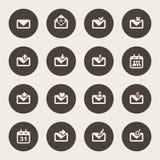 Icono del sobre. Diseño del correo electrónico stock de ilustración