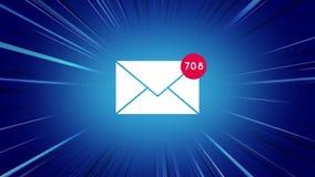 Icono del sobre del mensaje stock de ilustración