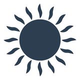icono del sol en el fondo blanco Foto de archivo