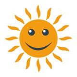 icono del sol en el fondo blanco Imágenes de archivo libres de regalías
