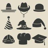 Icono del sombrero del partido Foto de archivo libre de regalías