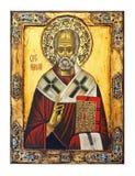 Icono del St. Nicolás imágenes de archivo libres de regalías