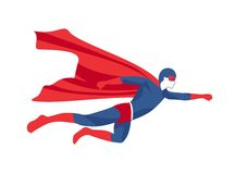Icono del super héroe Foto de archivo