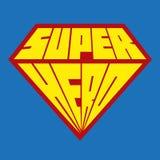 Icono del super héroe - logotipo del super héroe Imágenes de archivo libres de regalías