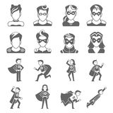 Icono del superhéroe libre illustration