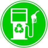 Icono del surtidor de gasolina de Eco Imagenes de archivo
