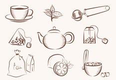 Icono del té Foto de archivo libre de regalías