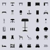 Icono del taburete de bar Sistema universal de los iconos de los muebles para el web y el móvil libre illustration