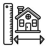 Icono del tamaño de la casa libre illustration