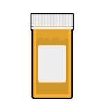 Icono del tarro de la medicina Médico y atención sanitaria Gráfico de vector stock de ilustración