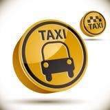 Icono del taxi Imagen de archivo libre de regalías
