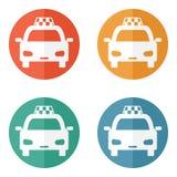 Icono del taxi Fotografía de archivo libre de regalías