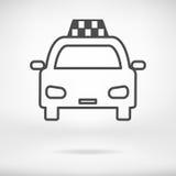 Icono del taxi Foto de archivo libre de regalías