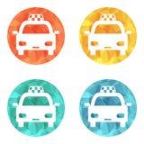 Icono del taxi Imagen de archivo