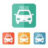 Icono del taxi Foto de archivo