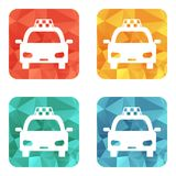 Icono del taxi Imágenes de archivo libres de regalías