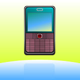 Icono del teléfono celular Fotografía de archivo libre de regalías