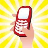 Icono del teléfono celular Foto de archivo