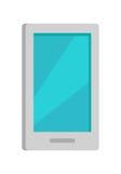 Icono del teléfono móvil aislado en blanco stock de ilustración