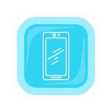 Icono del teléfono móvil Comunicador del teléfono móvil ilustración del vector