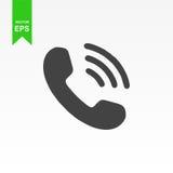 Icono del teléfono Vector el ejemplo plano del diseño Imagenes de archivo