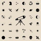 Icono del telescopio Espacie el sistema universal de los iconos para el web y el móvil ilustración del vector
