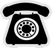 Icono del teléfono Foto de archivo libre de regalías