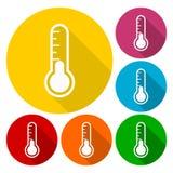 Icono del termómetro stock de ilustración