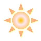 Icono del tiempo de Sun Imagen de archivo libre de regalías