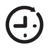 Icono del tiempo, vector del icono del reloj Fotografía de archivo libre de regalías