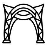 Icono del toldo, estilo del esquema ilustración del vector