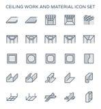 Icono del trabajo del techo ilustración del vector