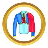 Icono del traje de matador del español stock de ilustración