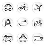 Icono del transporte Fotografía de archivo