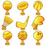 Icono del trofeo - deporte Imagen de archivo libre de regalías