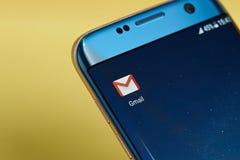 Icono del uso de Gmail Fotos de archivo