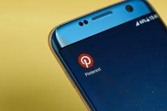 Icono del uso de Pinterest Fotos de archivo libres de regalías