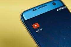 Icono del uso de YouTube Imagen de archivo