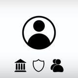 Icono del usuario, ejemplo del vector Estilo plano del diseño Foto de archivo libre de regalías