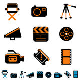 Icono del vídeo y de la foto Fotos de archivo