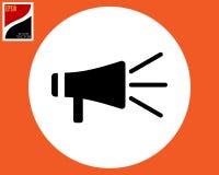 Icono del vector del altavoz foto de archivo