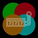 icono del vector del bote 777 ilustración del vector
