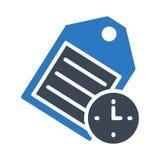 Icono del vector del color del glyph del tiempo de la etiqueta stock de ilustración